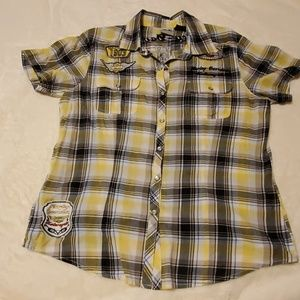 Women's Harley Davidson size L pearl snap shirt